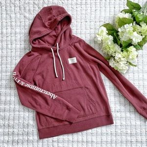 Abercrombie and Fitch Maroon Hoodie